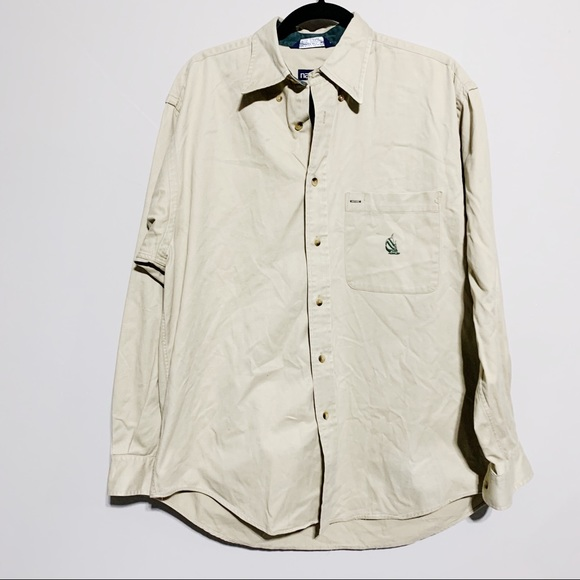 Nautica Other - 🛍Nautica Tan Long Sleeve Button Down, Medium